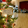 The John R. Tata Auditorium was decked out with festive Christmas trees at Leominster City Hall on Tuesday December 5, 2017 during the Worcester Middlesex District State Senate race. SENTINEL & ENTERPRISE/JOHN LOVE