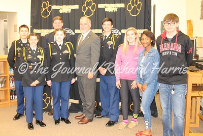Georgia School Superintendent Richard Woods with ChattCo JROTC Members