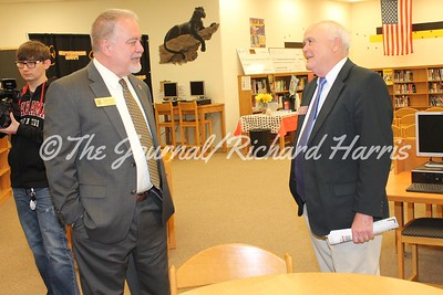 State School Superintendent Richard Woods and State Rep. Bill McGowan