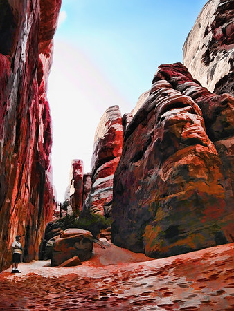 My Wife took this at Arches NP, Moab, UT.  I had a little fun with it!  http://www.nps.gov/arch/index.htm