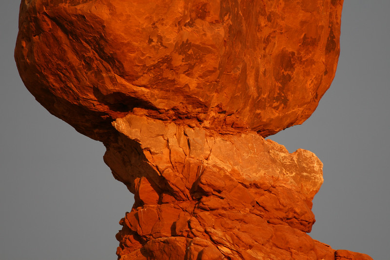 Balanced rock close up, Arches NP, Moab UT