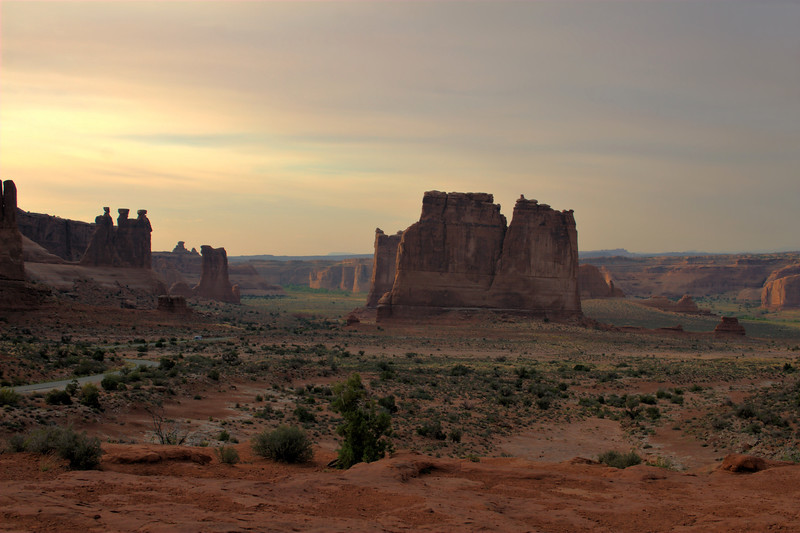 The three gossips on the left, Arches NP, Moab UT