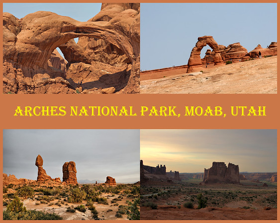 8 x10 collage of Arches NP, Moab, Utah