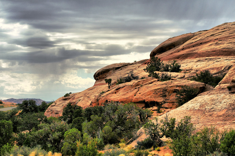 storm clouds coming, Canyonlands NP, Island in the Sky, Moab, Utah
