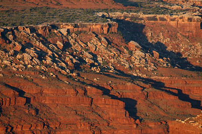 Edge in the morning sunlight, Dead Horse SP, Moab, Utah