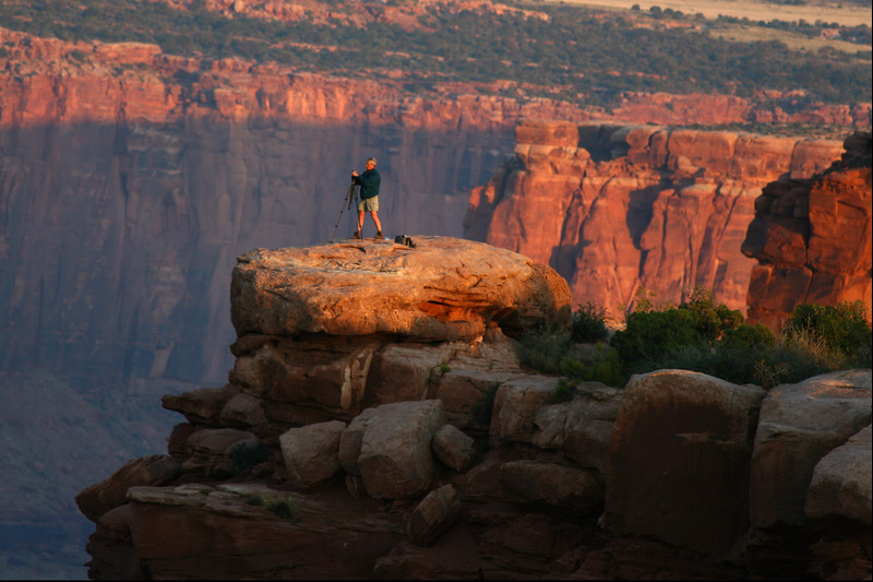 Getting the shot, Dead Horse State Park, Moab, UT