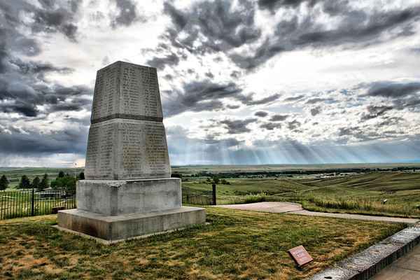 Custer Memorial, Little Big Horn, Montana