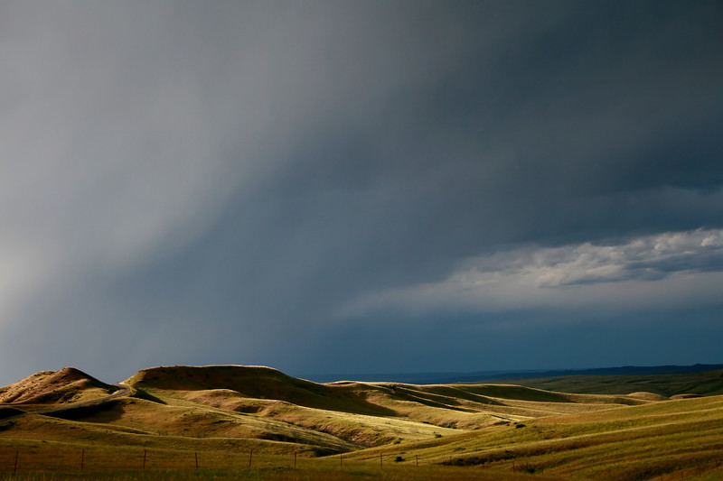 A Storm coming up at Little Big Horn, Montana