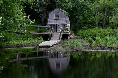 Boat house on the Concord River, Concord,MA