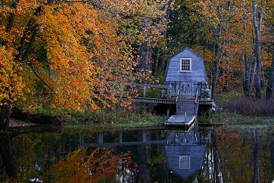 Old Manse Boathouse on the Concord River, Minuteman National Historical Park, Concord, Ma