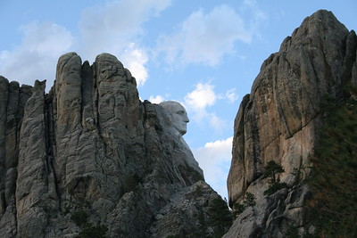 Side view of George Washington at Mt. Rushmore