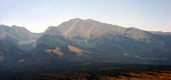 The Sangre de Christo mountain range