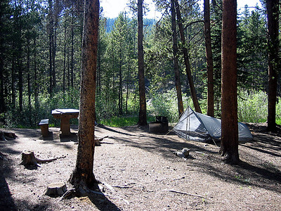 Our site at Half Moon Campground