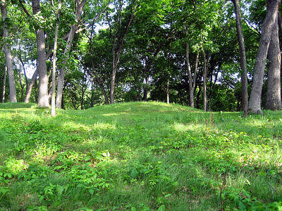 One of the Effigy Mounds or burial sites built by Native Americans