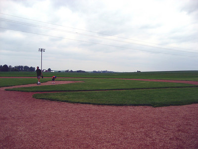 View of the baseball field