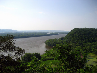 View of the Mississippi River from Eagle Overlook