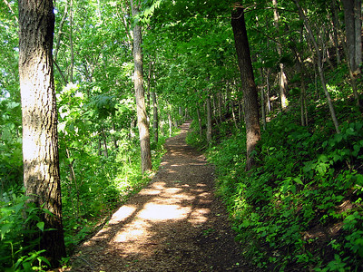 Hiking into Effigy Mounds National Monument