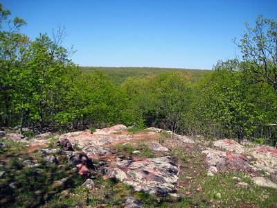 View from the ledges along the way