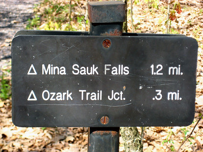 After visiting the highpoint, we headed on to Mina Sauk Falls, Missouri's tallest waterfall.