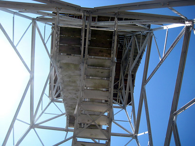 Looking back up at the fire tower