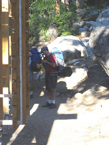 Dave at the trailhead after weighing his pack