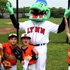 Swampscott, Ma. 5-30-17. Ryan Filipiak, Owen Pulaski, Domenic Cella, Charlie Brogna and Cam Gold with Chomps at Phillips Park in Swampscott.