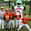 Swampscott, Ma. 5-30-17. Ryan Filipiak, Owen Pulaski,Gabe Bookman, Domenic Cella, Charlie Brogna and Cam Gold with Chomps at Phillips Park in Swampscott.