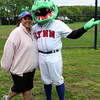 Swampscott, Ma. 5-30-17. Diane O'Brien with Chomps at Phillips Park in Swampscott.