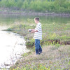 Dustin Eschenbach fishing in Red River