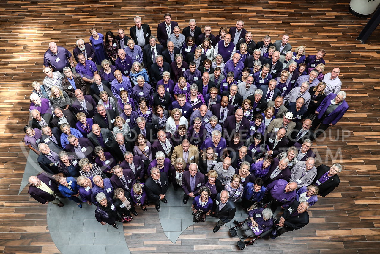 The Kansas State University Board of Trustees before the State of University presentation at Forum Hall in Manhattan, Kan. on September 29, 2017 (Cooper Kinley   Collegian Media Group)