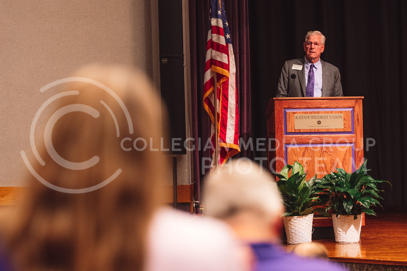 President Richard Myers delivered his final State of the University address in Forum Hall on Friday September 17th. (Dylan Connell   Collegian Media Group)