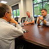 KRISTOPHER RADDER - BRATTLEBORO REFORMER<br /> John Hanley, chief financial officer for G.S. Precision, Inc., talks about the recent expansion project at their Brattleboro location to Michael Schirling, the state secretary of the Agency of Commerce and Community Development, Michael Harrington, deputy commissioner for Vermont Department of Labor, and Adam Grinold, executive director of the Brattleboro Development Credit Corp., during a tour on Thursday, June 29, 2017.