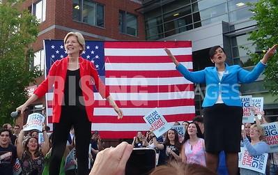 Hala Ayala at Campaign Rally with Elizabeth Warren in Fairfax, VA