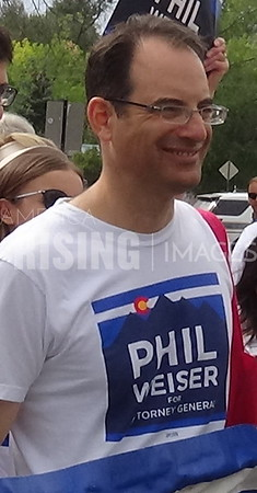 Phil Weiser At Labor Day Parade In Louisville, CO
