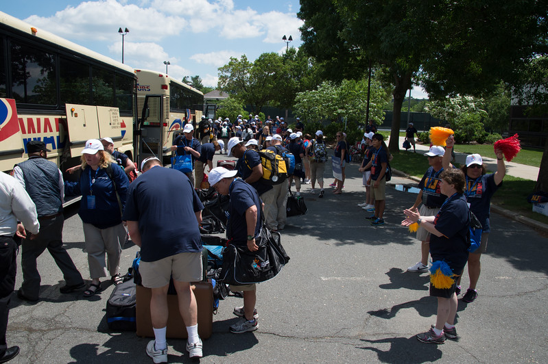 The New York Team arrives at the USA Games. June 14, 2014.