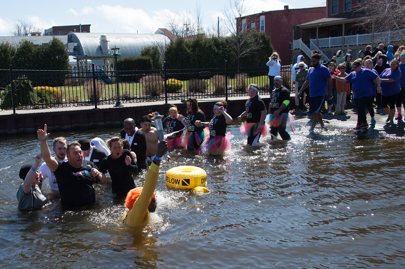 Sackets Harbor Polar Plunge. April 2, 2016.