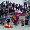 The 4th annual Oswego Polar Plunge. Wright's Landing, Oswego. April 9, 2016.
