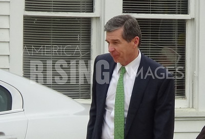 Roy Cooper At Campaign Rally In Laurinburg, NC