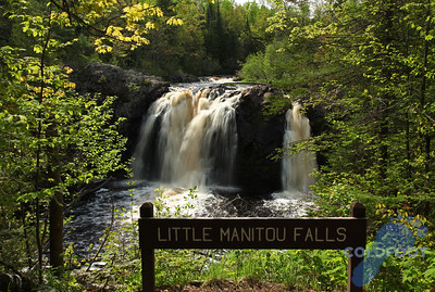 31 Foot High Little Manitou Falls At Pattison State Park