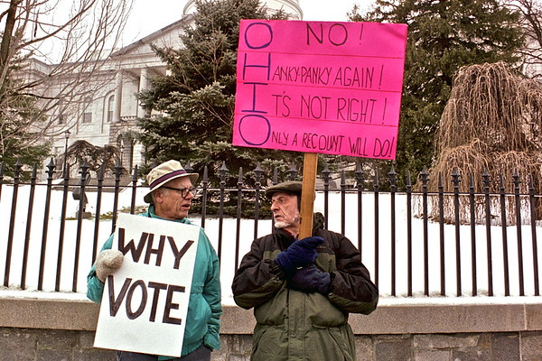 04.12.12  Demonstration for Election Recount at State House