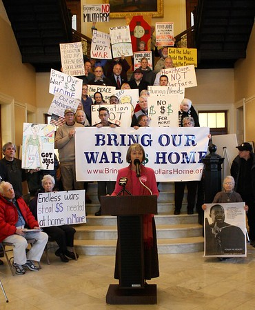 10.01.14 Bring Our War $$$ Home Rally at State House