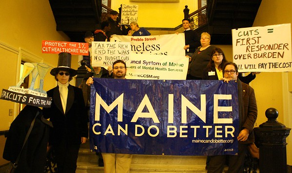 11.12.14 Mainers Fight Back Against LePage's Human Needs' Cuts