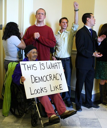 12.05.15 Rally Against GOP Budget Cuts at State House