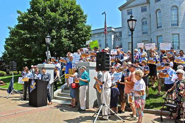 15.07.28 Maine Citizens for Clean Elections Rally at State House