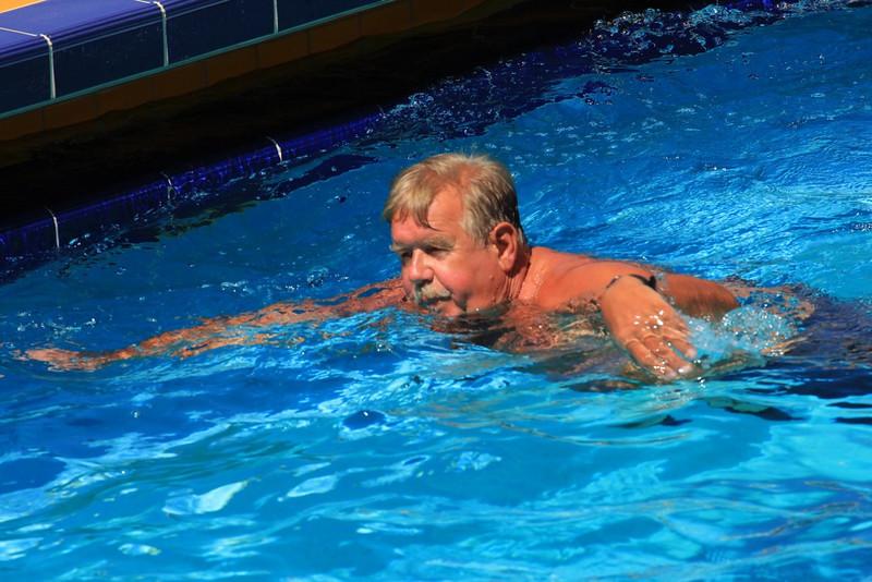 Frank still swimming