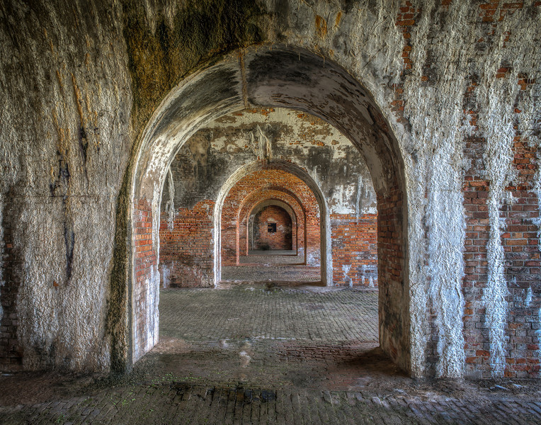 Inside Fort Morgan