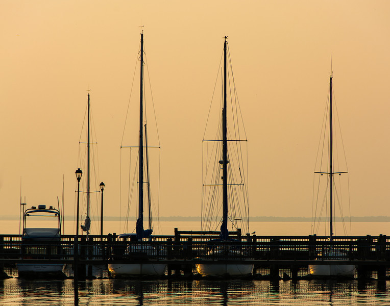Boats at Fairhope Pier