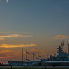 USS Alabama at Sunrise