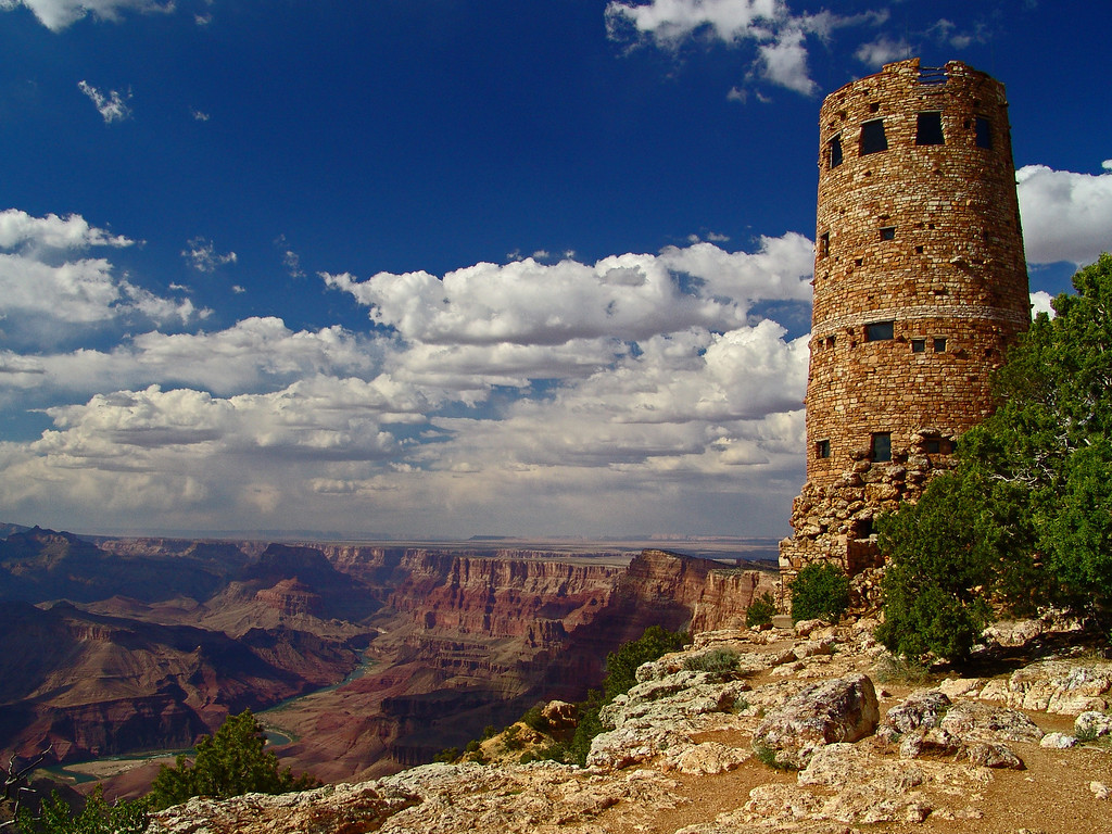 The Watchtower - South Rim - Grand Canyon, Arizona