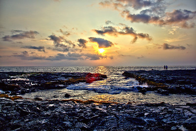 The tide pools located near the Kona Airport on the Big Island of Hawaii